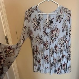 Free People Floral Blouse Size XS
